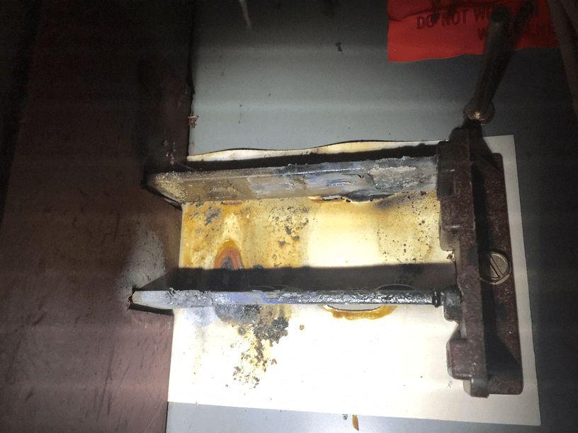 Destroyed Fuse Box